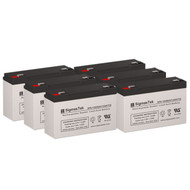 6 PowerWare PW5115-1500RM 6V 12AH UPS Replacement Batteries