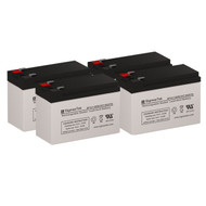 4 PowerWare PW9125-1500 12V 7.5AH UPS Replacement Batteries
