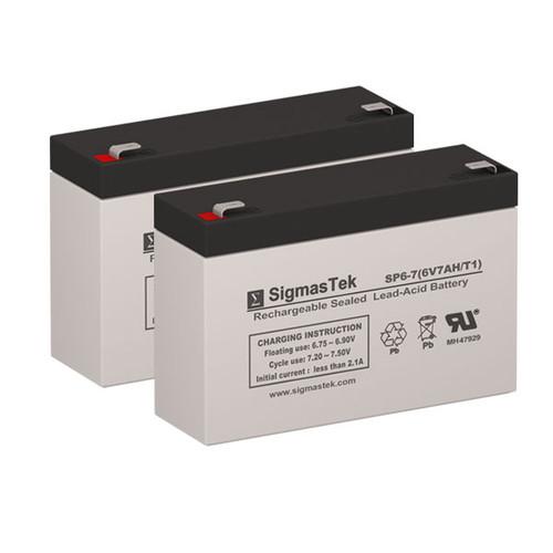 2 APC CURK18 6V 7AH UPS Replacement Batteries