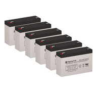 6 PowerWare PW5115-1500RM Rev. A 6V 7AH UPS Replacement Batteries
