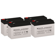 4 Eaton Powerware PW9125-2000i 12V 9AH UPS Replacement Batteries