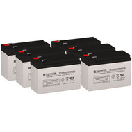 6 Eaton Powerware PW9125-2500VA 12V 9AH UPS Replacement Batteries