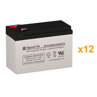 12 Eaton Powerware PW9125-72EBM 12V 9AH UPS Replacement Batteries