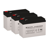 3 Eaton Powerware PW9120-1000 12V 9AH UPS Replacement Batteries