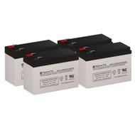 4 Eaton Powerware PW5125-1000 RM 12V 7.5AH UPS Replacement Batteries