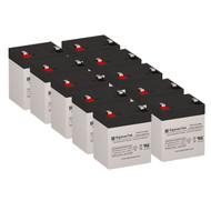 10 Eaton Powerware PW5125-2400 Rackmount 12V 5.5AH UPS Replacement Batteries