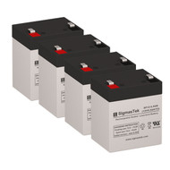 4 Eaton Powerware Prestige 650 12V 5.5AH UPS Replacement Batteries