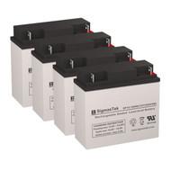 4 Eaton Powerware PowerRite Pro II 2400 12V 18AH UPS Replacement Batteries
