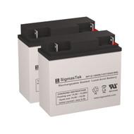 2 Eaton Powerware NetUPS 1500 12V 18AH UPS Replacement Batteries