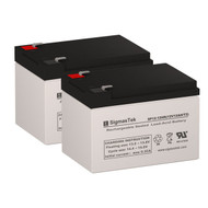 2 OPTI-UPS E1400 / 1400E 12V 12AH UPS Replacement Batteries