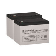 2 OPTI-UPS OD1000 12V 100AH UPS Replacement Batteries