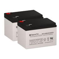 2 OPTI-UPS PS1100 / 1100PS (Tower/RM) 12V 12AH UPS Replacement Batteries