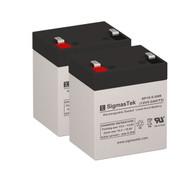2 OPTI-UPS PS500B 12V 5.5AH UPS Replacement Batteries
