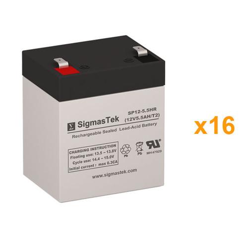 16 APC Smart UPS RT EMC7500R6XLU 12V 5.5AH UPS Replacement Batteries