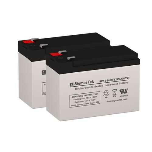 2 APC RBC142 12V 9AH UPS Replacement Batteries