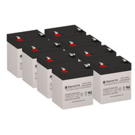 8 APC RBC43 12V 5.5AH SLA Batteries