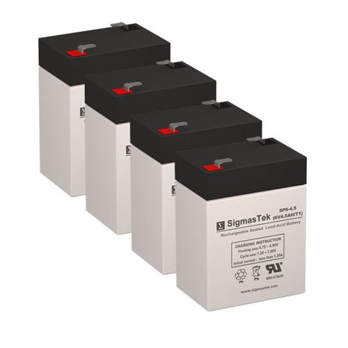 4 APC RBC1x2 6V 4.5AH SLA Batteries