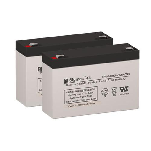 2 APC RBC18 6V 9AH SLA Batteries