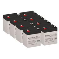 8 Tripp Lite RBC58-2U 12V 5.5AH SLA Batteries