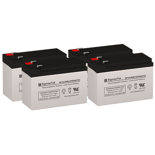 4 APC RBC116 12V 9AH SLA Batteries