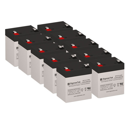 10 APC RBC117 12V 5.5AH SLA Batteries