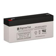 ELSAR 23052 6V 3AH Emergency Lighting Battery