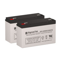 2 LightAlarms 12E1 6V 12AH Emergency Lighting Batteries