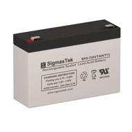 LightAlarms 1ZV13 6V 7AH Emergency Lighting Battery