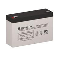 LightAlarms 2ZV1D4 6V 7AH Emergency Lighting Battery