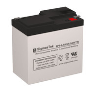 LightAlarms 2DM6 6V 6.5AH Emergency Lighting Battery