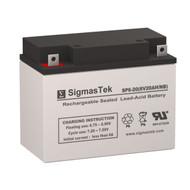 LightAlarms 2FG1 6V 20AH Emergency Lighting Battery