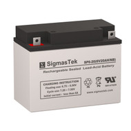LightAlarms P12Q1 6V 20AH Emergency Lighting Battery