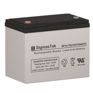 Lithonia ELB1260 12V 75AH Emergency Lighting Battery