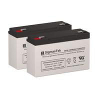 2 York-Wide Light 4E4 6V 12AH Emergency Lighting Batteries