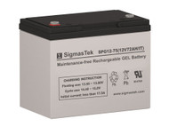 SigmasTek SPG12-75 IT 12V 72AH GEL Battery Replacement