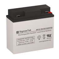 Power Sonic PS-12180-F2 Replacement 12V 18AH SLA Battery