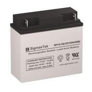 Power Sonic PS-12180-NB Replacement 12V 18AH SLA Battery