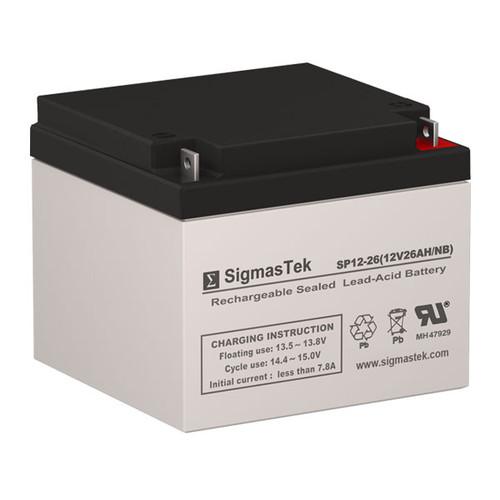 Power Rite PRB1226 Replacement 12V 26AH SLA Battery