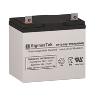 Power Rite PRB1255 Replacement 12V 55AH SLA Battery
