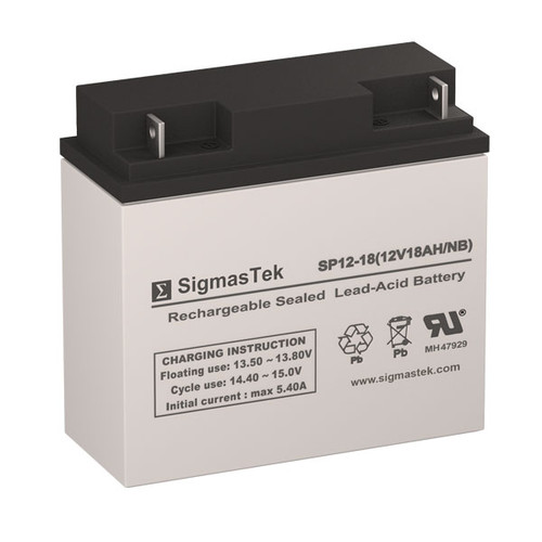 Leoch Battery LP12-18 Replacement 12V 18AH SLA Battery