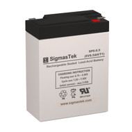 Vision CP680S Replacement 6V 8.5AH SLA Battery