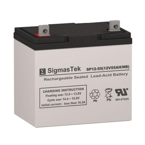 Amstron AP12-55G-R Replacement 12V 55AH SLA Battery