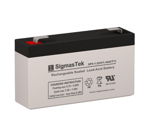 Amstron AP-613F1 Replacement 6V 1.4AH SLA Battery