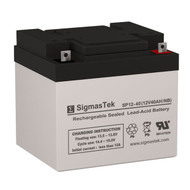 CooPower CP12-38 Replacement 12V 40AH SLA Battery