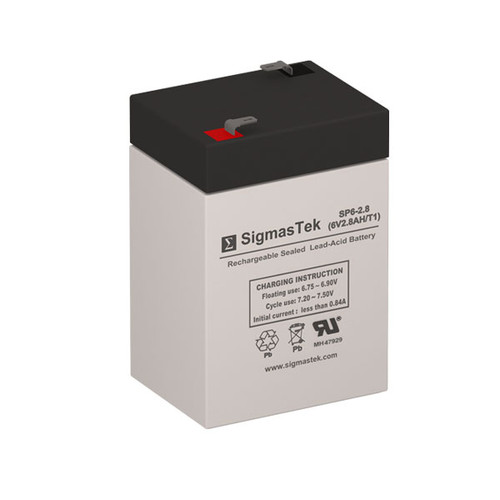 FirstPower FP628A Replacement 6V 2.8AH SLA Battery