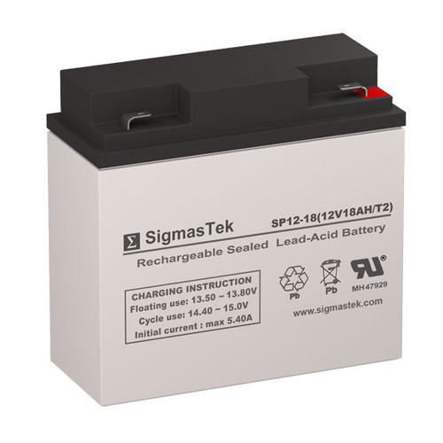 Alexander G1217034-F2 Replacement 12V 18AH SLA Battery