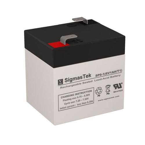 Alexander G610 Replacement 6V 1AH SLA Battery