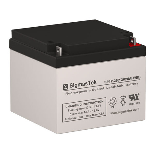 Alexander G6100 Replacement 12V 26AH SLA Battery