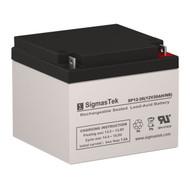 Alexander G6200 Replacement 12V 26AH SLA Battery