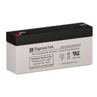 Johnson Controls JC628 Replacement 6V 3AH SLA Battery